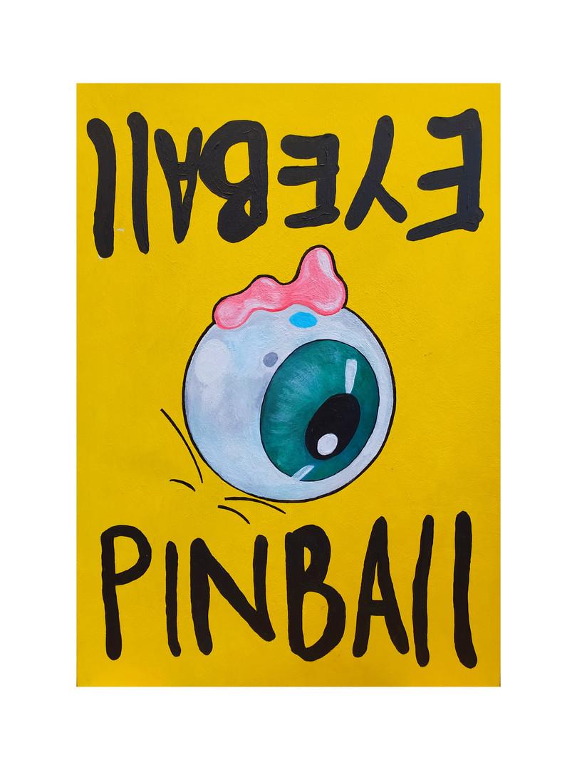 Eyeball Pinball Sign (Rotated)