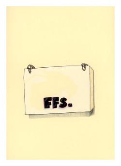 FFS work on paper. Ant Hamlyn