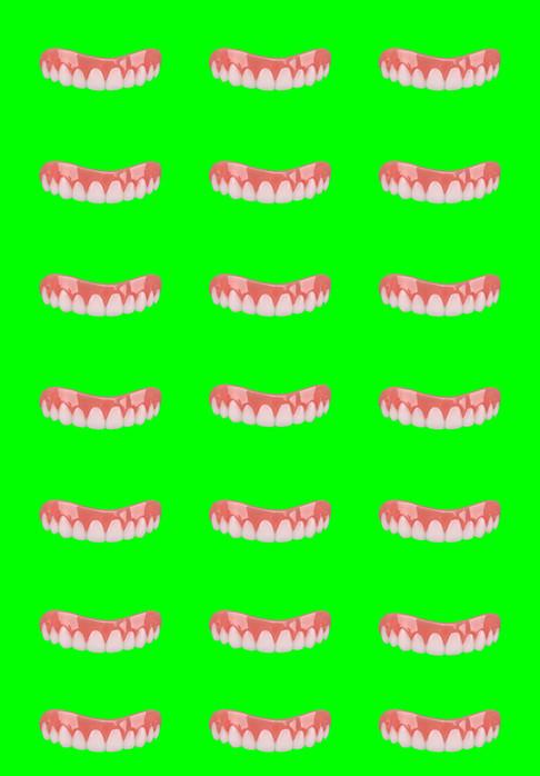 Neon Green Tile Smile
