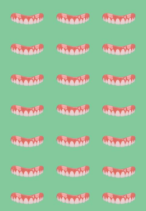 Hipster Green Tile Smile