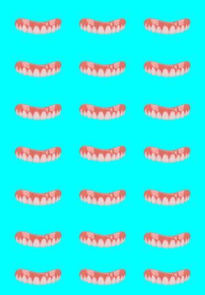 Baby Blue Tile Smile
