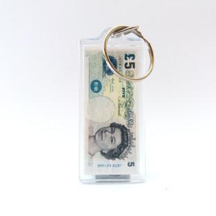 Encased £5 Note