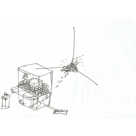 Crane Machine Shitting into a corner