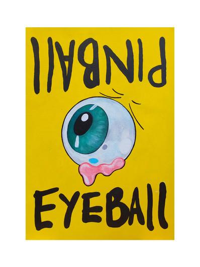 Eyeball Pinball Sign