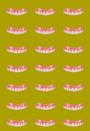 Mustard Tile Smile