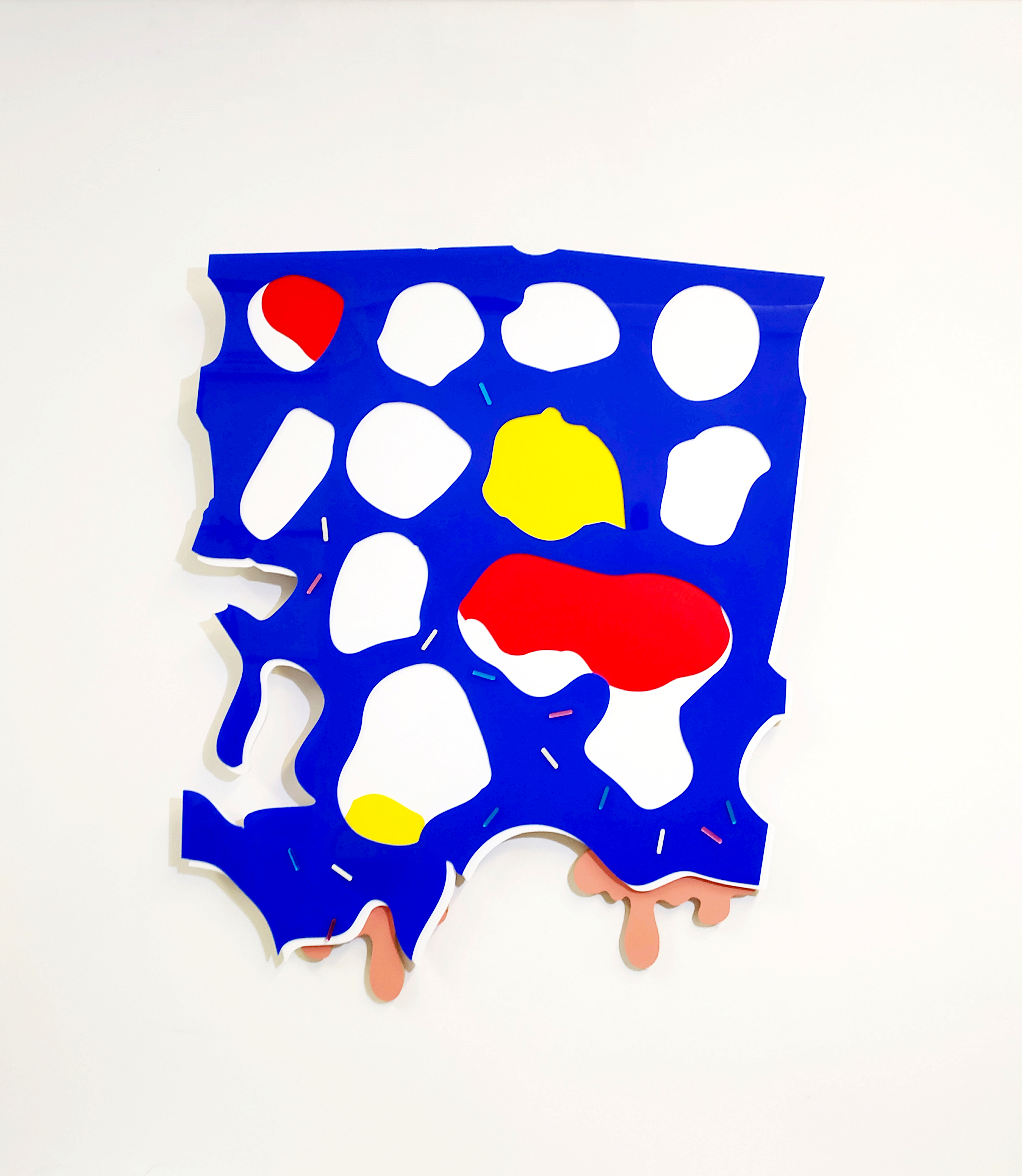Connect Four Melted Sculpture