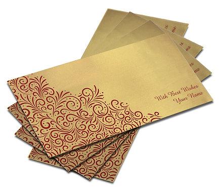 Shagun Envelope on Gold Satin paper(Pack of 10) SESATIN GOLD 002