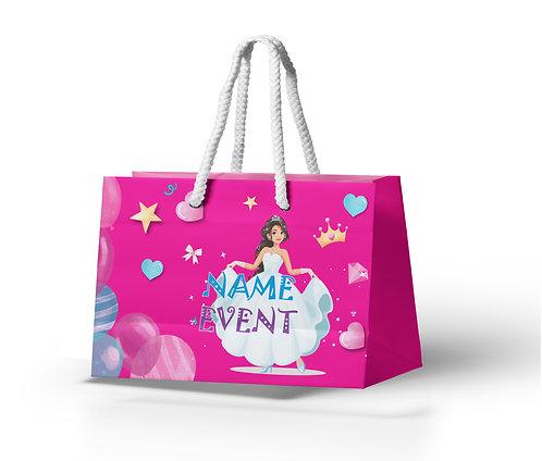 Customized Princess Theme Paper Bags (PS Bag B 04)