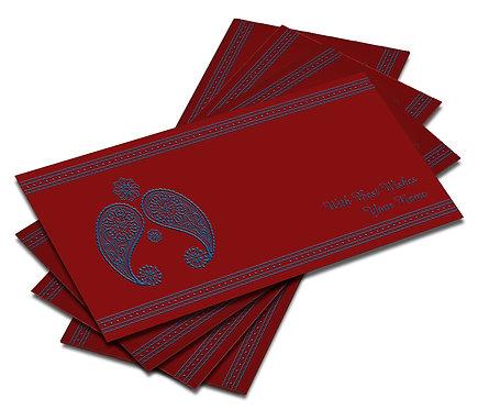 Shagun Envelope on Red Velvet paper(Pack of 10) SEVLVT 008