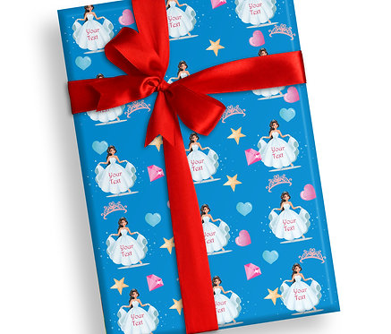 Customized Princess Theme Wrapping Papers (PS WP 04)