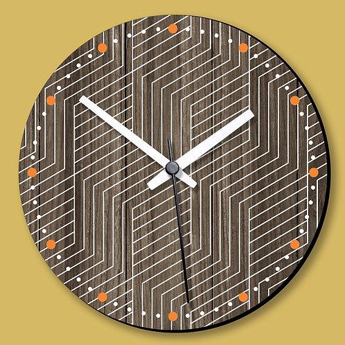 Wooden Printed Wall Clock (01)
