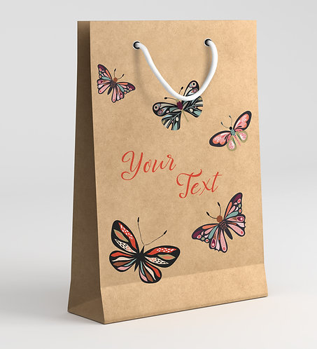 Personalized Paper Gift Bags (RBAG 008)