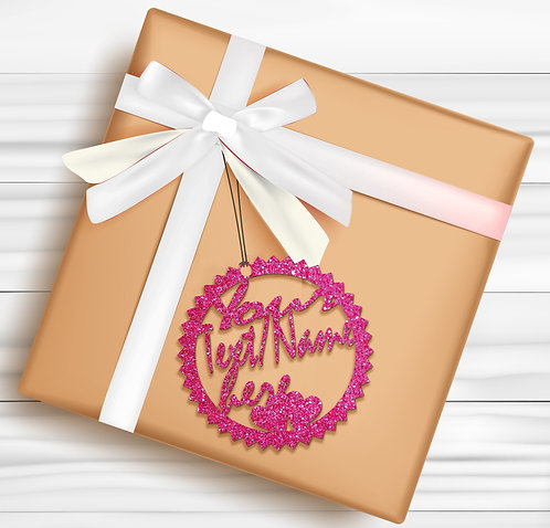Gift Tags (Pack of 4 / 10)  (GT PINK GLTR 03)