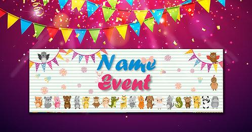 Customized Baby Animal Theme Banner (PS Ani Ban 01)
