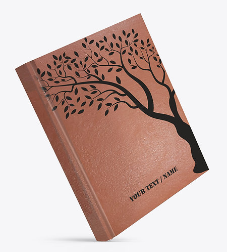 Personalized Hardbound Leather Cover Large NoteBook / Diary (NBLTHR L 010)