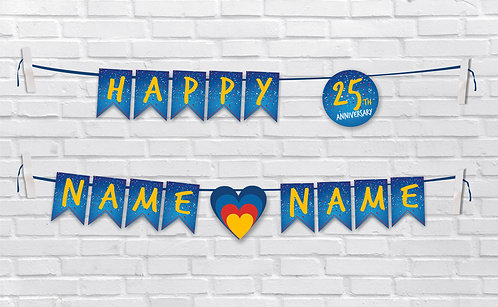 Anniversary Bunting Banners (AnBBan 13)