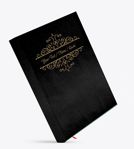 Personalized Satin Cover Notebook / Diary (NBSatin Black 02)