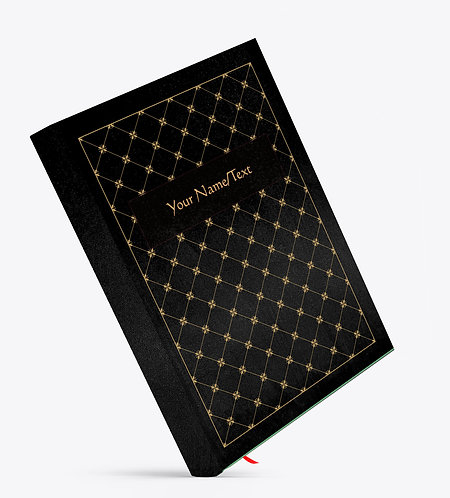 Personalized Satin Cover Notebook / Diary (NBSatin Black 06)