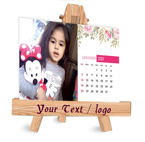 Personalized Table Caledndar on Easel Stand (EaseCal  03)