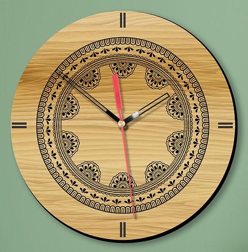 Wooden Printed Wall Clock (07)