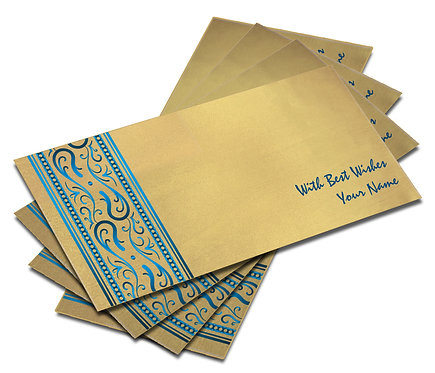 Shagun Envelope on Gold Satin paper(Pack of 10) SESATIN GOLD 005