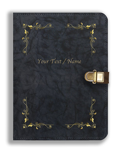 Personalized Leather NoteBook / Diary with Metal Lock (NBLOCK 001)