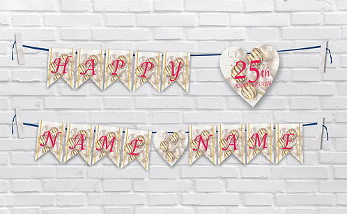 Anniversary Bunting Banners (AnBBan 41)