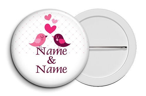 Personalized Button Badges (Pack of 20) (ButnBadge 007)