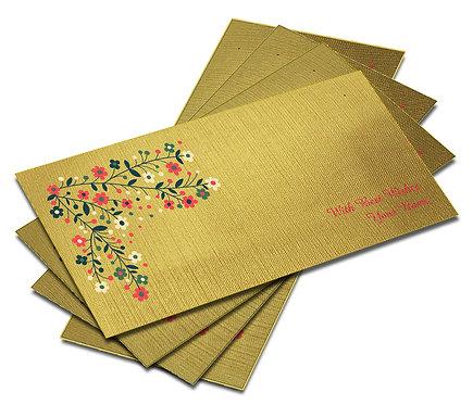 Shagun Envelope on Gold Textured paper(Pack of 10) SEGOLD 001