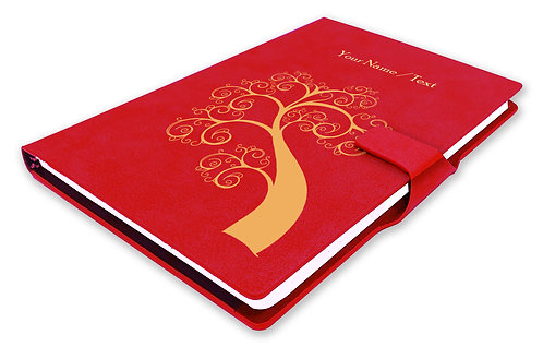 Personalized Hardbound NoteBook / Diary with MAGNETIC Lock (NB Red Mag 002)