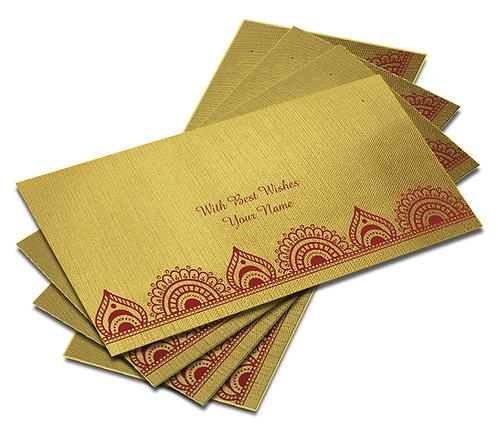 Shagun Envelope on Gold Textured paper(Pack of 10) SEGOLD 006