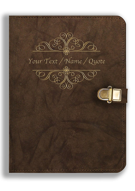 Personalized Leather NoteBook / Diary with Metal Lock (NBLOCK 025)