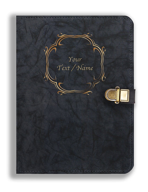 Personalized Leather NoteBook / Diary with Metal Lock (NBLOCK 002)