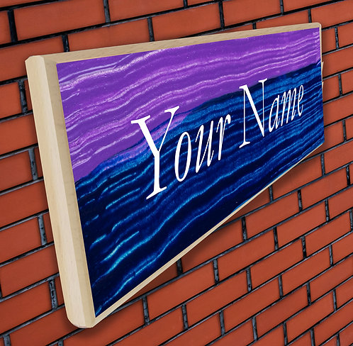 Personalized UV Printed Wooden Door Name Plate (NP 16)
