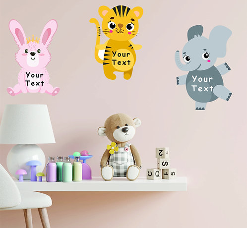 Customized Baby Animal Theme CUT-OUT Posters (PS Cut-out Pos 1)