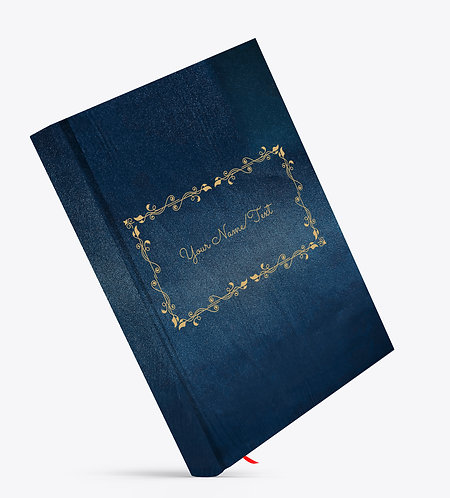 Personalized Satin Cover Notebook / Diary (NBSatin Blue 04)