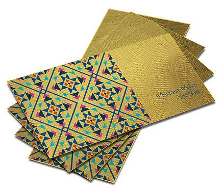 Shagun Envelope on Gold Textured paper(Pack of 10) SEGOLD 009