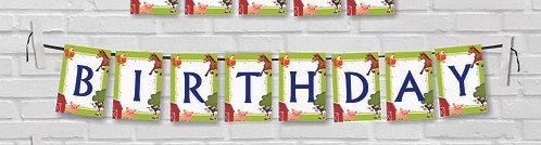Customized Farm Animal Theme Bunting Banner (PS Ani BB 02)
