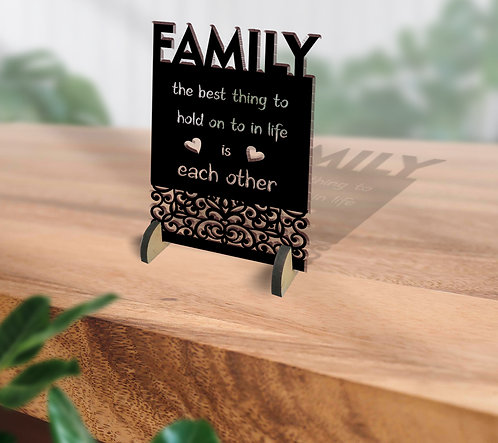 Customized / Non Customized Wooden Quote Laser-cut Typography Plaque (25)