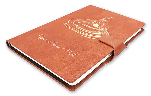 Personalized Hardbound NoteBook/Diary with MAGNETIC Lock (NB TAN Mag 006)