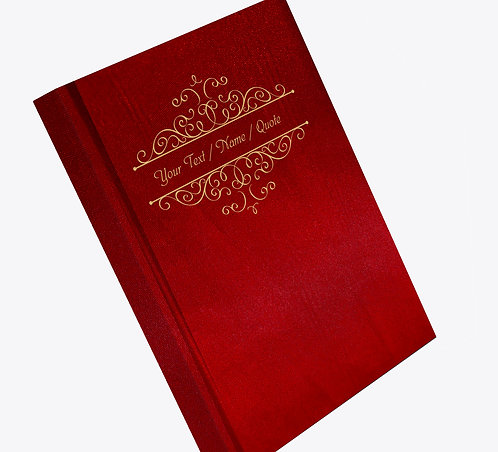 Personalized Satin Cover Notebook / Diary (NBSatin Maroon 02)