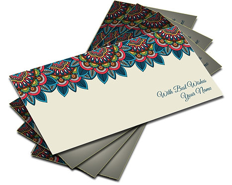 Shagun Envelopes With Front & Back Designs (Pack of 10)
