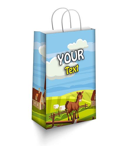 Customized Farm Animal Theme Paper Bags (PS Bag S 02)