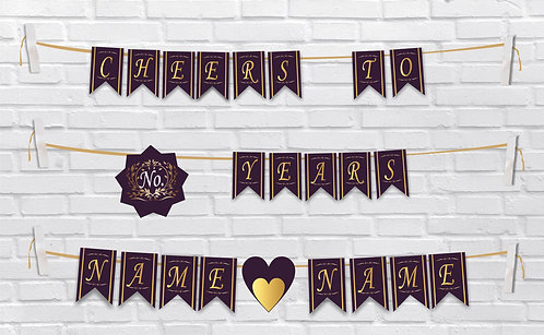 Anniversary Bunting Banners (AnBBan 08)