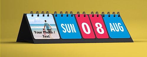 Personalized Perpetual Table Calendar (Perp 02)