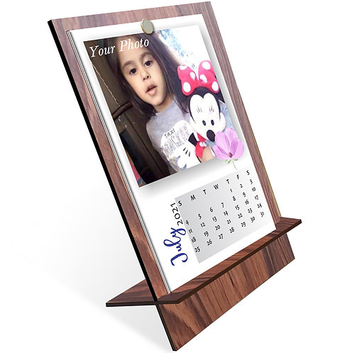 Personalized Table Calendar on MDF Stand (DCal MDF P 05)