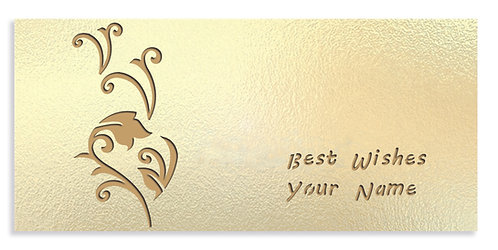Customized Shagun Envelope on Pearl Finish Card