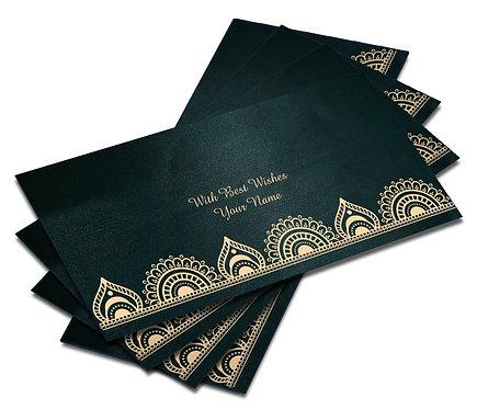 Shagun Envelope on Blue Satin paper(Pack of 10) SESATIN BLUE 007