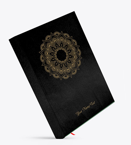 Personalized Satin Cover Notebook / Diary (NBSatin Black 05)