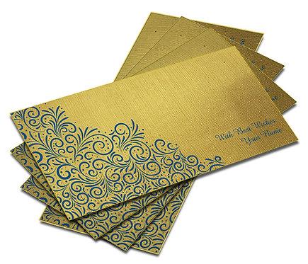 Shagun Envelope on Gold Textured paper(Pack of 10) SEGOLD 002